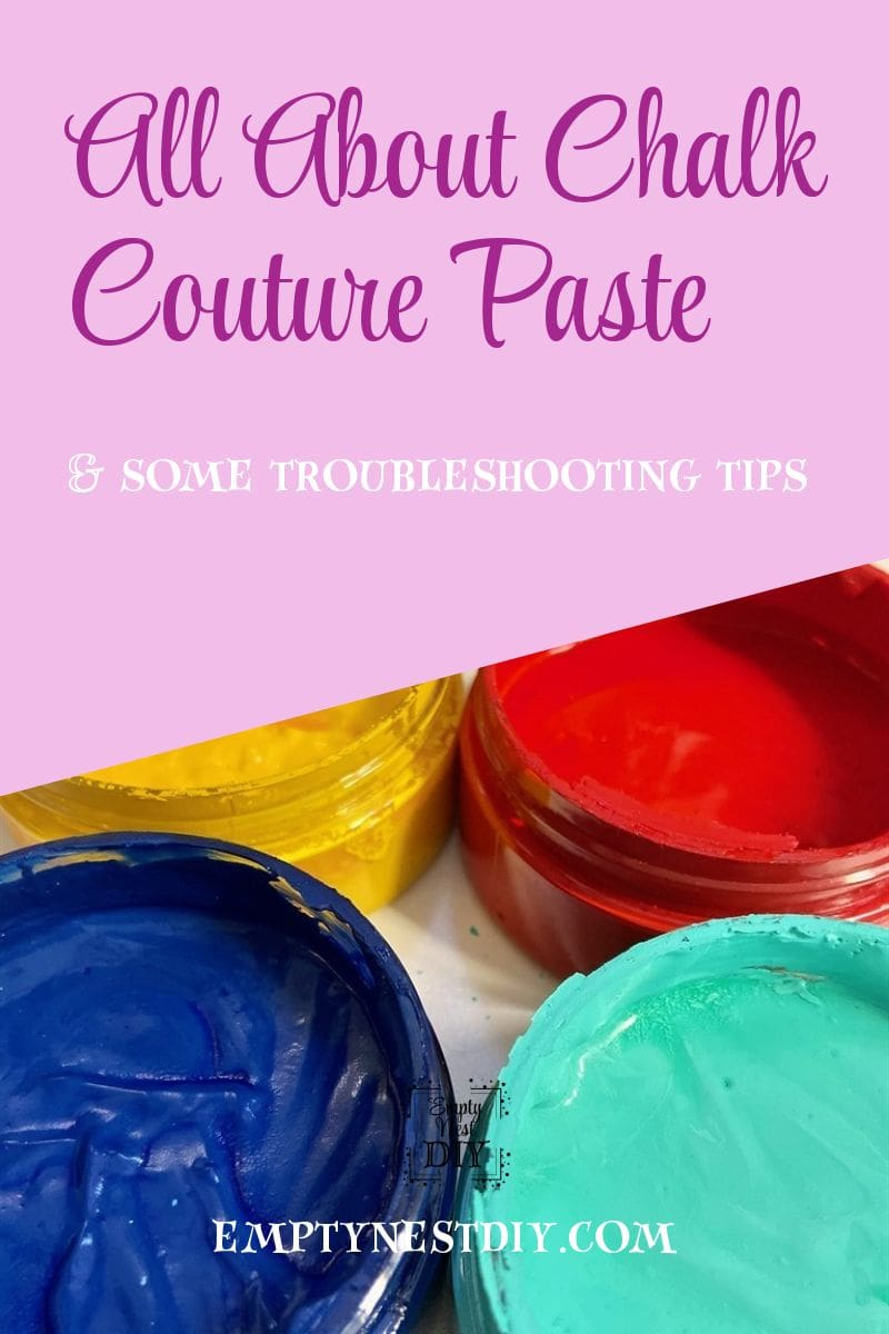 how to prepare chalk couture paste for use