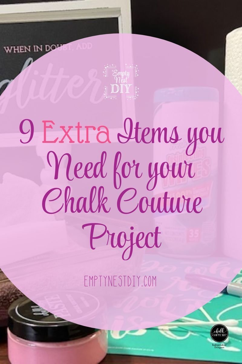 additional supplies for chalk couture projects