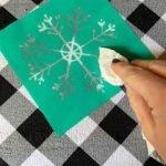 cleaning a sticky chalk stencil