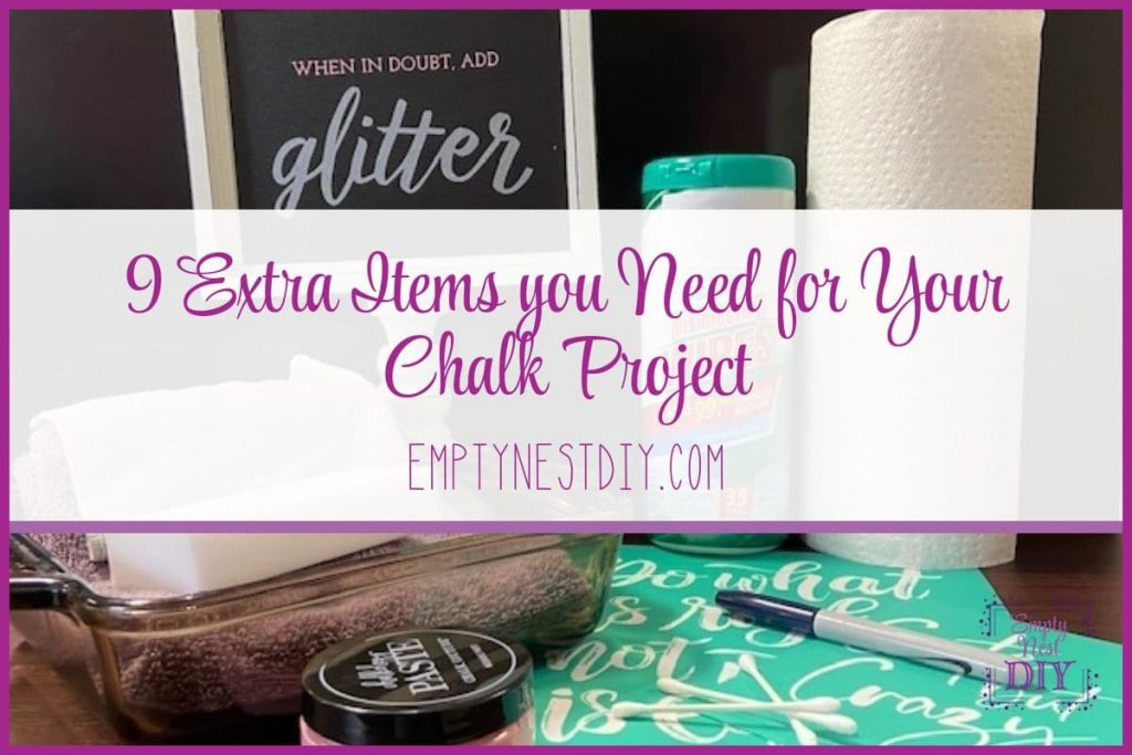 extra supplies for chalk couture projects