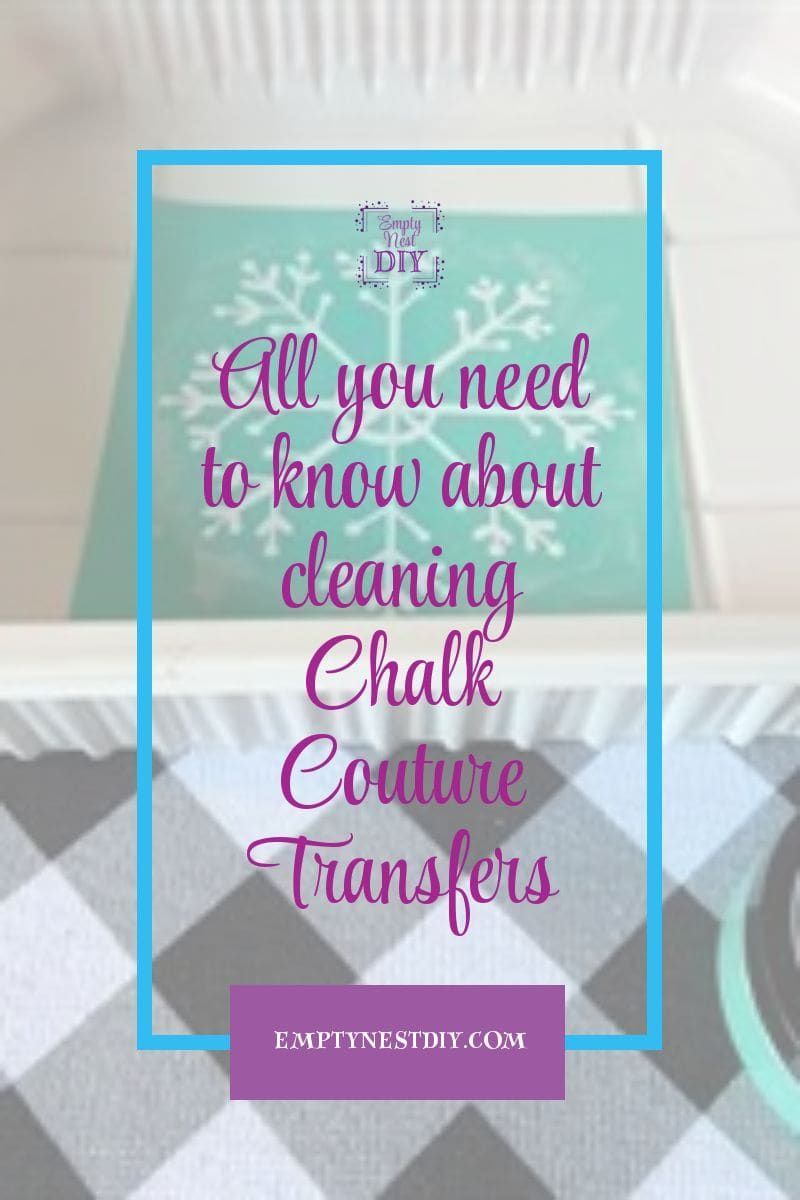 cleaning chalk couture transfers is easy with these beginner instructions