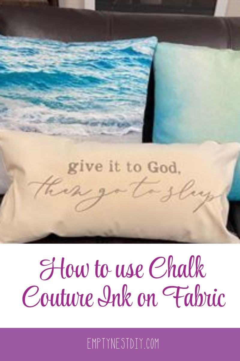 how to use chalk couture ink on fabric