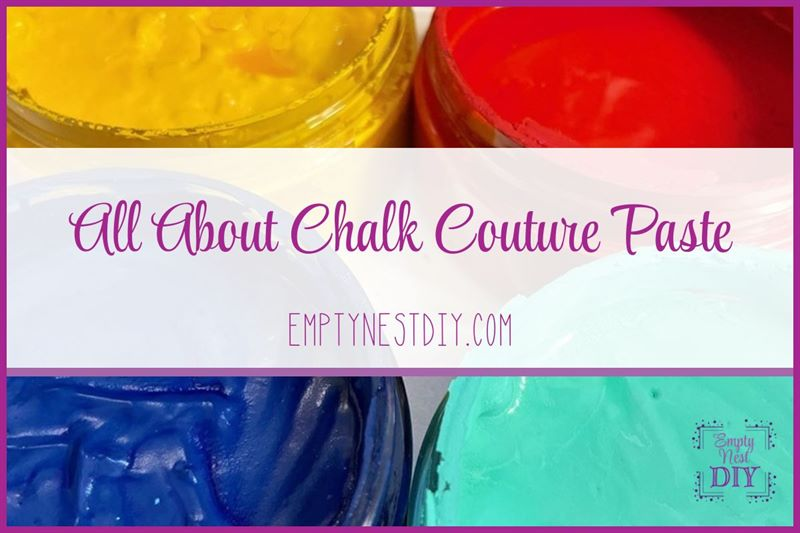 chalk couture paste and what to do if chalk paste dried out