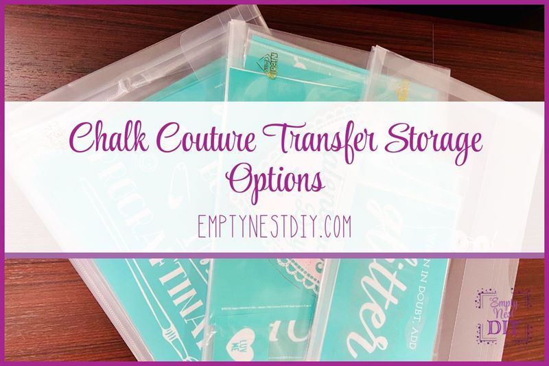 best way to store chalk couture transfers