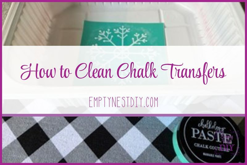 how to clean chalk couture transfers