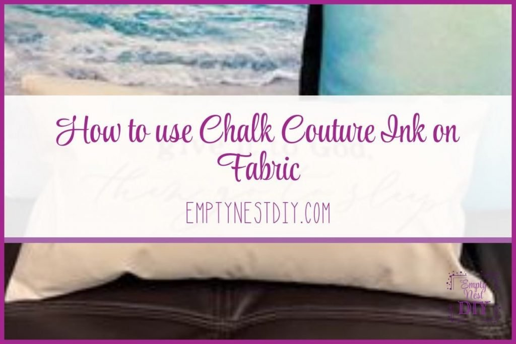 how to use chalk couture ink on fabrics