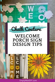chalk couture welcome porch sign tips