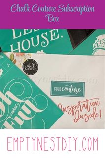 club couture, chalk couture monthly transfer, craft box, craft subscription box
