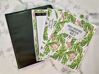 notebook covers and spine for chalk transfer organization, printable