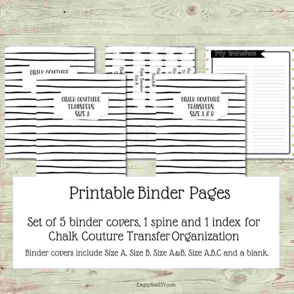 printable binder covers