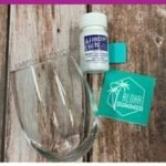 how to etch glass with chalk couture transfers