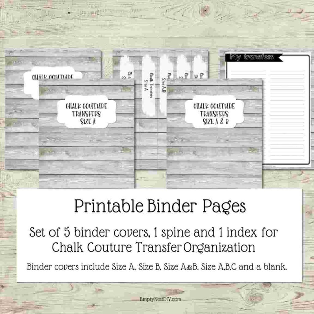 printable binder covers with wood background