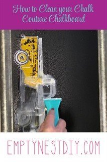 how to clean chalk couture paste off of a chalkboard