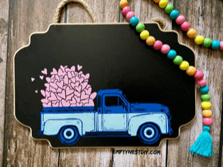 chalk couture vintage truck with vintage truck spring add-on transfer to make cute spring chalk signs