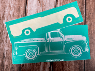 chalk couture vintage truck transfer to use for chalk painting