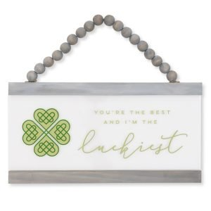 St Patricks Day decorations made easy with a luckiest sign from chalk couture
