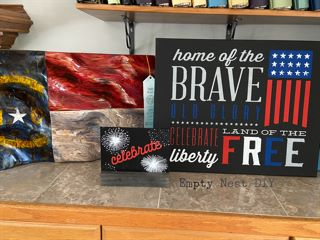 Fourth of July chalk couture projects for decorations