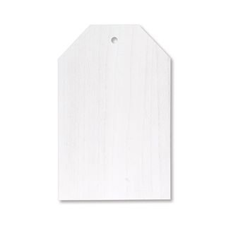 white wooden door tag from chalk couture